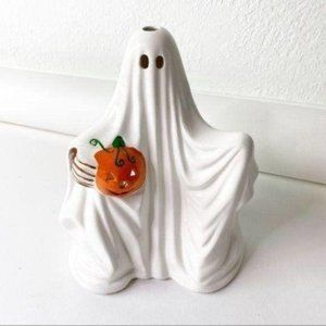 Vintage Russ Ceramic Ghost Candle Holder Halloween